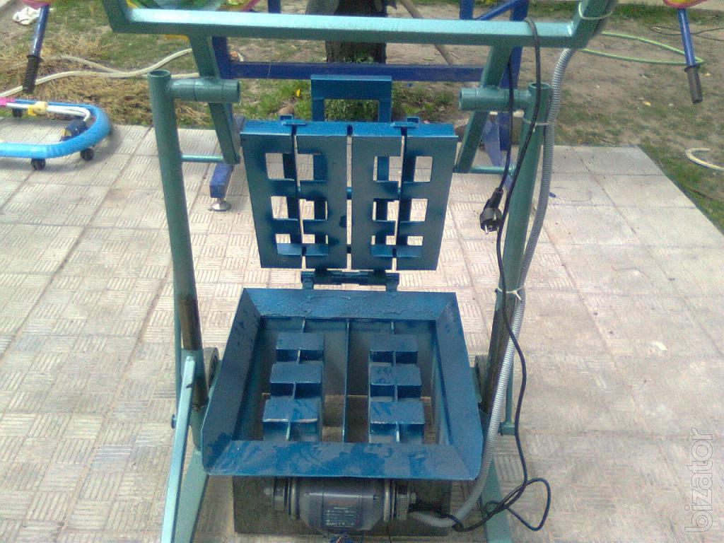 Как сделать станок для изготовление шлакоблоков