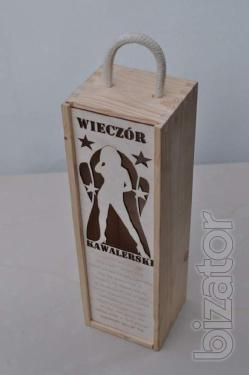 Wooden gift box, from quality wood.