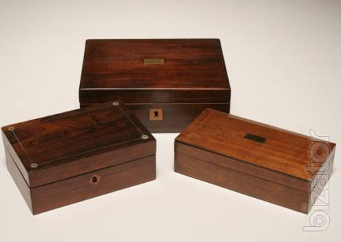 Wooden boxes for gifts. Production.