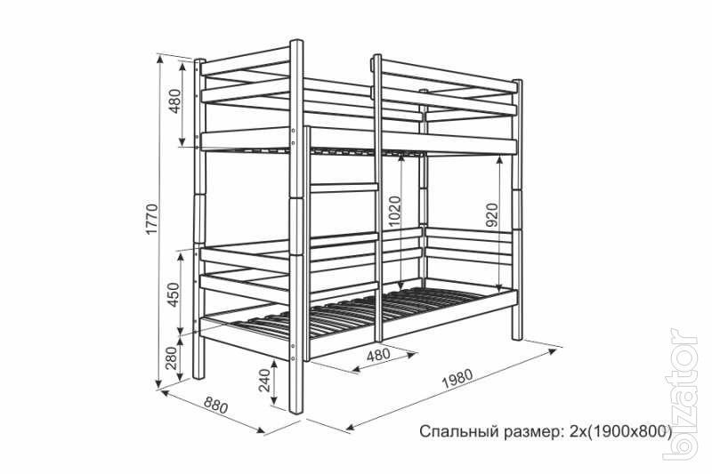 Двухъярусная кровать своими руками чертеж 20