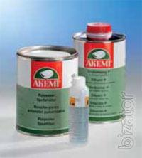 Chemistry for service Akemi: putty, coating, protection, cleaner, Polish, sealants, varnishes, acrylic materials, paints