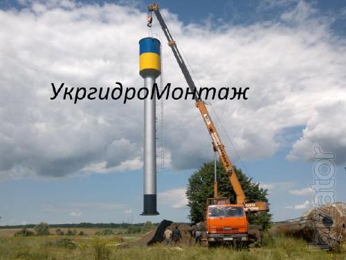Water Tower, Manufacture, Buy, Price, Photo, Tower Rozhnovskoho. Dnepropetrovsk, Zaporozhye, Kirovograd