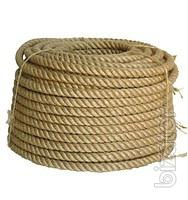 The jute rope for a wooden house