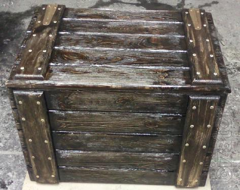 Wooden boxes, cases, boxes, chests