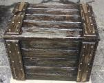 Wooden boxes for wine and brandy.