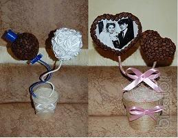 Подарки на свадьбу из кофейных зерен 107