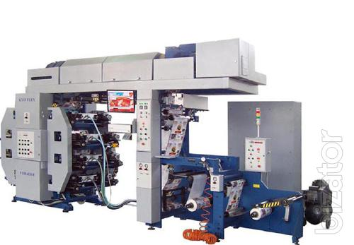 narrow-web flexographic 8 colorful machine with the Central printing cylinder
