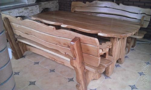 Oak furniture for the bath