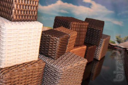 Artificial rattan (technofutur) for furniture production