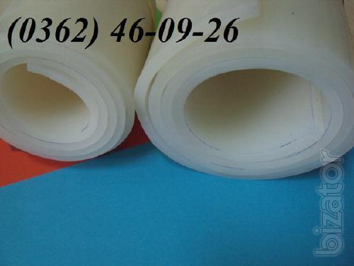 Food grade rubber in rolls