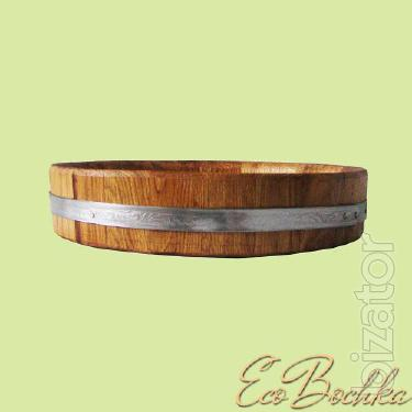 The oak tray D=270 mm.-450mm.