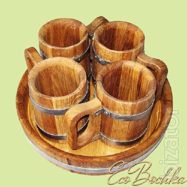 Set beer tray and 6 cups