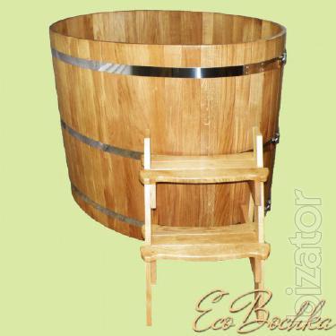 Oval font of oak, wooden tub,custom