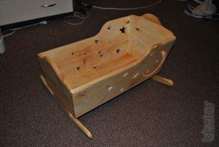 Кроватка качалка из дерева своими руками