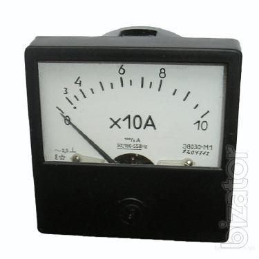 Sell warehouse ammeters and voltmeters E, A, E, E-1, E-2, M, M42300, etc.