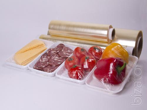 Food wrapping film, PVC
