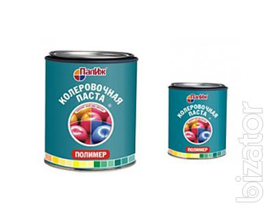 """Tinting pigment paste """"Polymer"""" TM """"Palizh"""" (Russia) for polymers"""