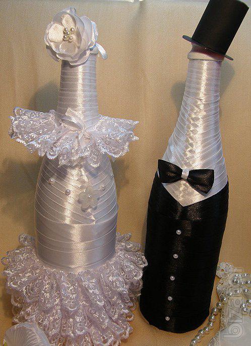 Украшение шампанского жених мастер класс