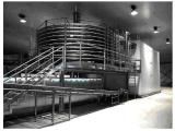 """Spiral line for freezing, drying, curing different kinds of food (dumplings, bread, nuts, vegetables, fruits, mushrooms Italy""""Sarp""""."""
