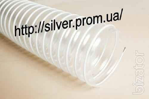 Sleeve for aspiration polyurethane with PVC spiral D100 mm