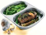 The food container from aluminum.