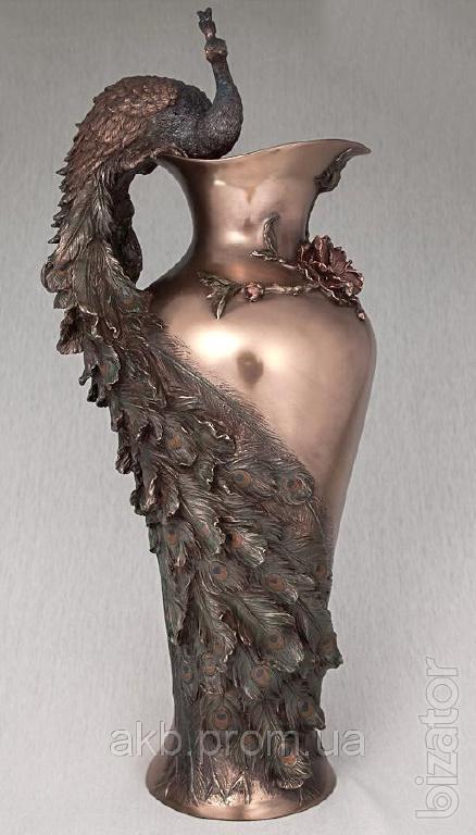 The Veronese Vase Peacock 50 Cm Bronze Coating Buy On Bizator