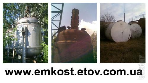 Reactors, railway tanks, metal containers b/y to 120 m3