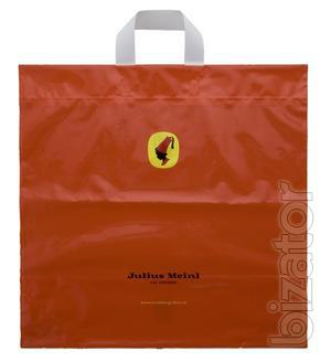 Bags with the logo and other plastic products