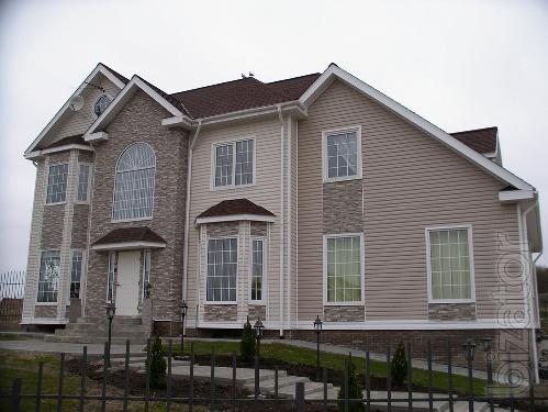 Siding, roofing, gutters, blockhouse, front panel