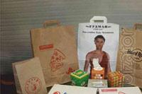 Packages of paper, napkins, corrugated boxes, plasmati