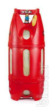 Secure the gas cylinder 12 l, propane