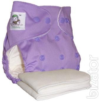 Reusable Bamboo diaper + 2 inserts