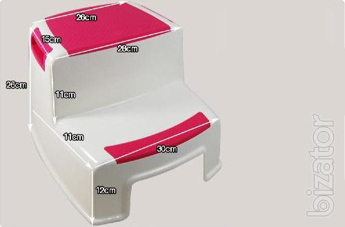 Chair-step for the sink, toilet
