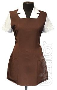 Sewing clothes, uniforms for staff
