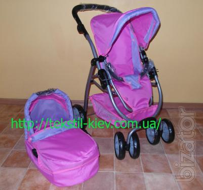 Stroller for dolls 9662 crimson