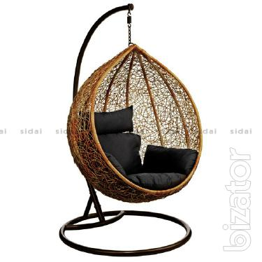 """Chair-swing made of artificial rattan """"Cocoon"""" Kharkiv"""