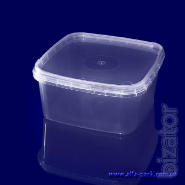 Plastic Cuba - rectangular and square containers