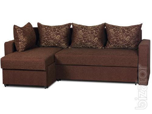 The corner sofa Berlin No. 2 Gold fabric
