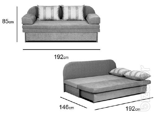 The pull-out sofa Paris No. 16 Platinum fabric