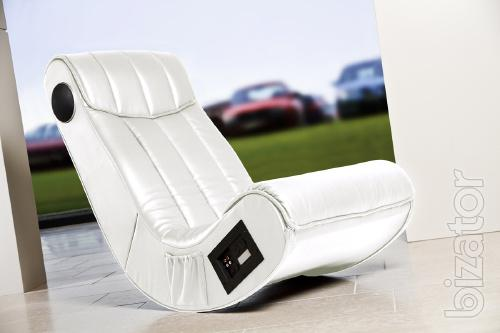 Multimedia Chair Rocker Music-Relax-white (New Germany)