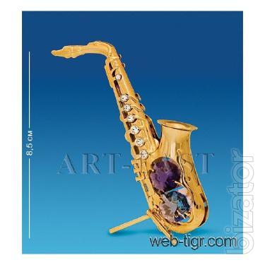 Figurine with Swarovski crystals Saxophone 8.5 cm AR -4390/GA