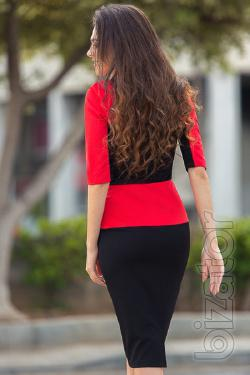 Dress red and black