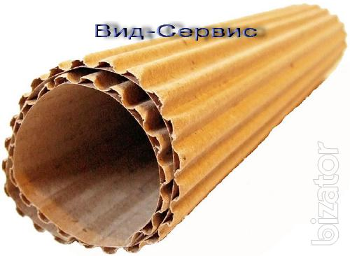 Inexpensive two-layer corrugated cardboard in rolls.