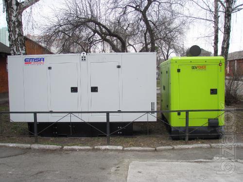 Diesel generators 120 and 100 kW