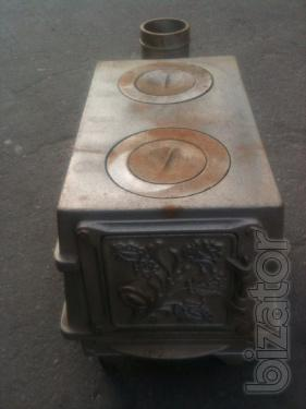 The small stove. The cast iron stove 2 burners. Oven collapsible. New. of the USSR.