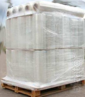 Stretch film for packaging with a machine