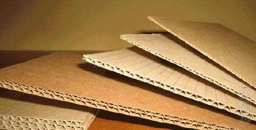 Gofrolist and packaging made of corrugated cardboard
