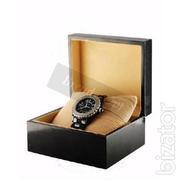 Black wooden box for watches wholesale