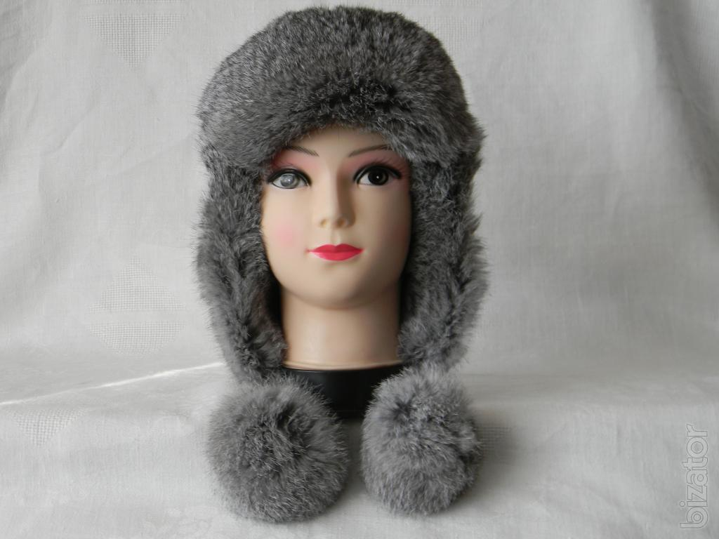 Fur hat with ear flaps eBay
