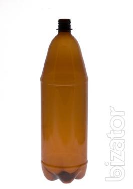 the pet bottle with beer and water 0,5 l, 1 l, 1.5 l, 2 l.